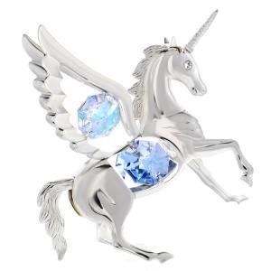誕生日 ギフト スワロフスキー クリスタル プレゼント 女性 男性 縁起物 馬 お祝い 記念日 置き物 オーロラ ペガサス 置物|andromeda