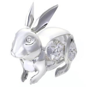 ギフト 縁起物 スワロフスキー クリスタル 誕生日 プレゼント 女性 男性 お祝い 記念日 置き物 ウサギ 置物1|andromeda