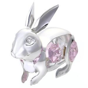 ギフト 縁起物 スワロフスキー クリスタル 誕生日 プレゼント 女性 男性 お祝い 記念日 ウサギの置物2|andromeda