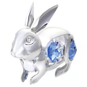 誕生日 ギフト プレゼント 記念日 男性 女性 縁起物 スワロフスキー クリスタルお祝い ウサギの置物3|andromeda