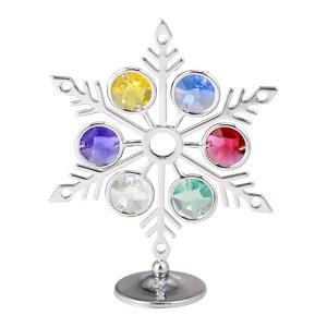 キラキラ空を舞い落ちてくる美しい 雪の結晶の置物です。シルバー タイプ 御自身の宝物、誕生日プレゼン...