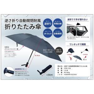 逆さ折り自動開閉耐風折りたたみ傘24本/セット andrun