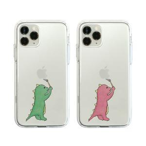iPhone11 Pro ケース iPhone11 ケース Dparks ソフトクリアケース お絵かきザウルス ディーパークス アイフォン カバー 恐竜 お取り寄せ|andselect