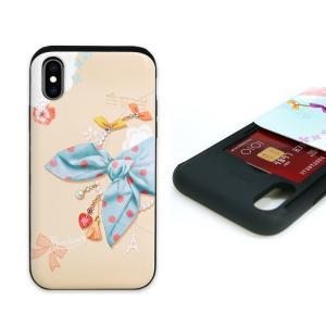 お取り寄せ iPhone XS / X ケース Happymori Card slide Dot S...