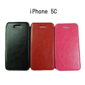 iphone5c ケース カバー プレミアムPU レザーケー...
