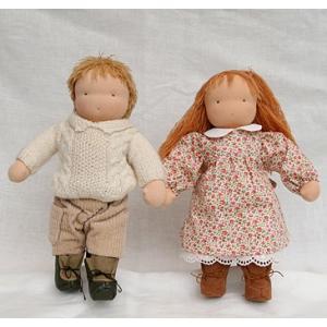 ウォルドルフ人形キット B体 <身長約30cm ジャージ縫製済品 髪=中濃茶 洋服別>