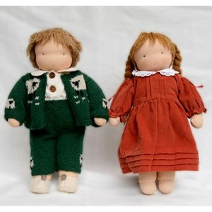 ウォルドルフ人形キット C体 <身長約40cm ジャージ縫製済品 髪=濃茶 洋服別>