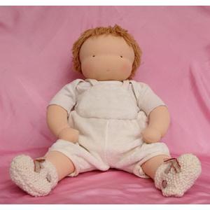 ウォルドルフ人形キット 赤ちゃんヤンネ <身長約55cm ジャージ縫製済品 髪=淡茶 洋服別>