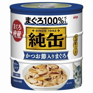 アイシア 純缶3P かつお節入りまぐろ 125g×3缶 JY3-5
