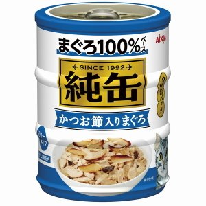アイシア 純缶ミニ3P かつお節入り 65g×3...の商品画像