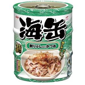 アイシア 海缶ミニ3P 削りぶし入りかつお 60g×3缶 UMK3-14