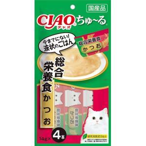 いなば CIAOちゅ〜る 総合栄養食 かつお 4本入り(14gx4本) SC-158