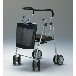 介護用品:歩行補助器具:アシストシルバーカー ニューDX フットストッパー付 anela