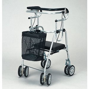 介護用品:歩行補助器具:アシストシルバーカー ニューDX コの字型ハンドブレーキ付 anela