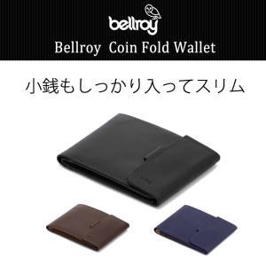 二つ折り財布 メンズ 財布サイフさいふ ブランド 本革 薄い財布 小銭入れあり Bellroyベルロ...