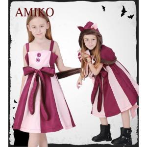 コスチューム 子供用 女の子 猫 ネコ 動物 ハロウィン 不思議の国のアリス コスプレ衣装 キッズ メイド服 ワンピース|anemo