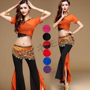 ベリーダンススパンコールダンス衣装 パーティードレス 3点セット コスチューム レッスン着 ヒップスカーフ 文化祭 アラビアン衣装 ダンス衣装 仮装|anemo
