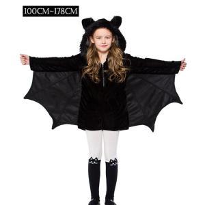 子どもコスプレ 親子 コウモリコスチューム 魔女/吸血鬼 ワンピース 衣装 仮装 可愛い 大人 キッズ ハロウィン 子供用 cosplay 女の子|anemo