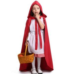 赤ずきん  キッズコスチューム コスプレ 万聖節 衣装 可愛い コスチューム ジュニア ハロウィン 子供用 cosplay 女の子 送料無料|anemo