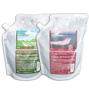 サニープレイス ザクロー精炭酸 シャンプー&トリートメント 詰替用セット (800ml/800g)|anemone-c