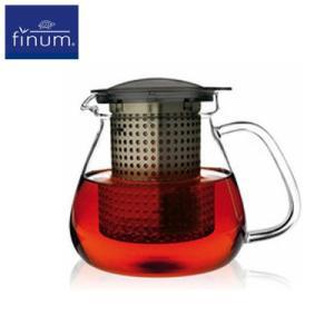 送料無料 FINUM(フィナム) ティーコントロール ブラック 1.0L(35 oz) 紅茶 お茶 ティーポット ange-yokohama