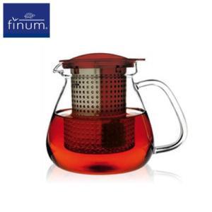 FINUM フィナム ティーコントロール レッド 1.0L(35oz) 紅茶 お茶 ティーポット ange-yokohama