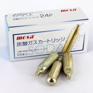 MOSA ソーダメーカー用 炭酸ガス カートリッジ 24本入 CN08-24 モサ 1回使い切り ange-yokohama