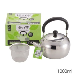 ほの茶 ステンレス製急須 1000ml H-6403 パール金属 日本茶 紅茶 お茶 ティーポット|ange-yokohama