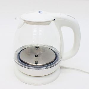 ガラスケトル 1.0L HKG-100W ヒロコーポレーション 電気ケトル 空焚き防止機能 LEDライト|ange-yokohama