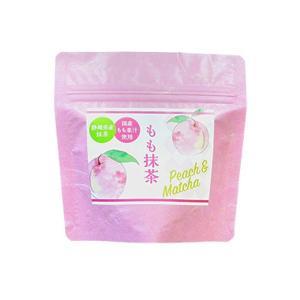 国産もも果汁使用 もも抹茶 80g 静岡県産抹茶 うす茶糖 インスタント ange-yokohama