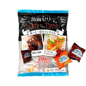 蒟蒻ゼリー カフェタイム 珈琲&紅茶 20個入 ほっと一息こんにゃくゼリー ange-yokohama