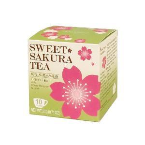 スイートサクラティー 緑茶 2g×10袋 ティーブティック|ange-yokohama