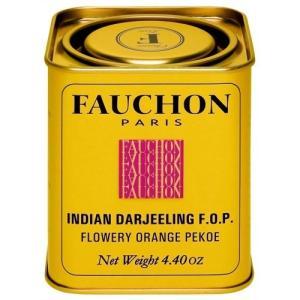 FAUCHON(フォション) ダージリン 125g リーフ 缶入り 紅茶 ゴールデンチップ フランス パリ ストレート ミルクティー|ange-yokohama