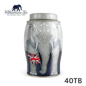 ≪送料無料≫Williamson Tea ウィリアムソンティー リーガル(イングリッシュブレックファスト) 2.5g×40P / 象缶 イギリス 英国 ケニア お土産 プレゼント|ange-yokohama