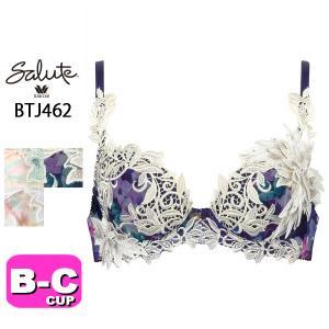ワコール/wacoal サルート/salute BTJ462 62シリーズ P-UPブラジャー 3/4カップブラジャー BCカップ|angeikoma