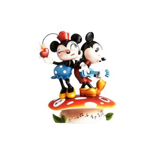 エネスコ ディズニー ミスミンディー ミニーとミッキーマウスフィギュア angel-1948