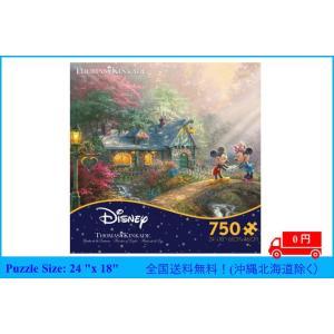 ジグソーパズル トーマスキンケード ディズニー 750のピース ミッキーとミニーの恋人橋パズル ceaco angel-1948