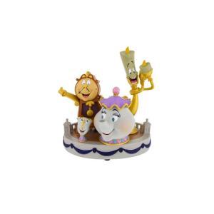 アメリカディズニーパーク ディズニーミディアムフィギュア・美女&野獣魅了された置き物 Big-F5594|angel-1948
