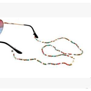 メガネアクセサリー眼鏡ビーズチェーン眼鏡ストラップメガネビーズ