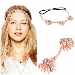 髪飾り レディースヘアアクセサリー フラワー ストーン 花ビジュー チェーン|angela-web