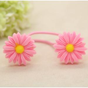 ヘアゴムフラワー花デザイン可愛い2本組ヘアゴム|angela-web