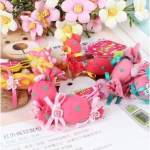 ヘアゴムフラワー花キャンディーキッズ飴デザイン可愛い2本組ヘアゴム angela-web