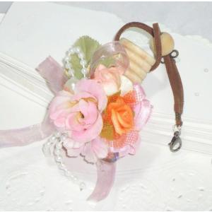 アロマ花フラワー香水アトマイザーフレグランス/ハンドメイドデコ香水瓶ストラップ|angela-web