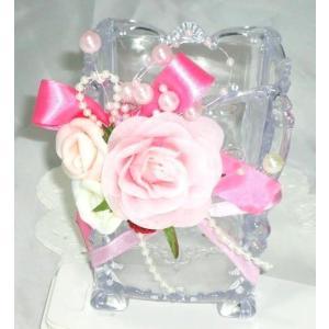 小物入れフラワーお花とリボンのハンドメイド雑貨手作りデコケース|angela-web