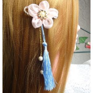 ヘアピン コサージュピン タッセル髪飾り/花フラワー 母の日プレゼント|angela-web