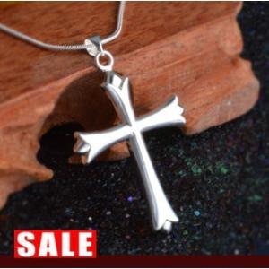 ネックレス メンズ クロス 十字架 スネークチェーン シルバー925 ペンダント 送料無料|angela-web