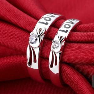 指輪 レディース メンズ リング シルバー925 czダイヤモンド LOVEロゴ 送料無料 アレルギーフリー|angela-web