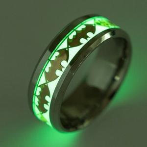 指輪 メンズ 夜光 リング ステンレス ゴシック調 文字 光...