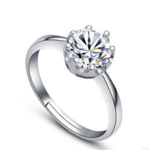 指輪 レディースリング 大粒キュービックジルコニア czダイヤモンド サイズフリー シルバー925 送料無料 アレルギー|angela-web