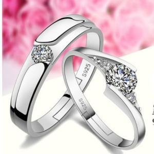 指輪 レディース メンズ AAAczダイヤモンド ペアリング シルバー925プラチナ仕上げ 送料無料 アレルギー|angela-web